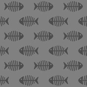 Dark Grey Fishes on Grey