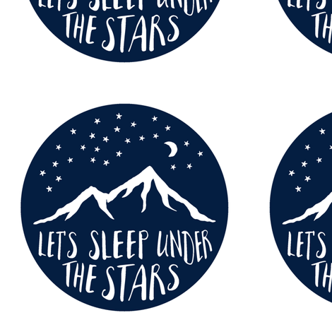 "Navy 6""x6"" Let's sleep under the stars quilt blocks fabric by littlearrowdesign on Spoonflower - custom fabric"