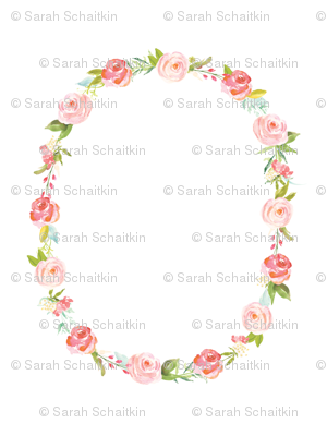 Roses Baby Wreath Blanket