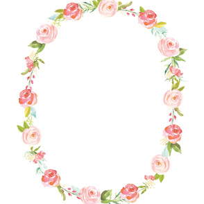 Roses Baby Wreath Blanket