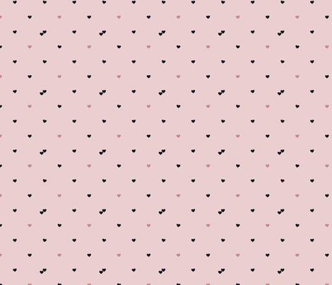 Tiny Hearts in Blush Pink fabric by heytherethreads on Spoonflower - custom fabric