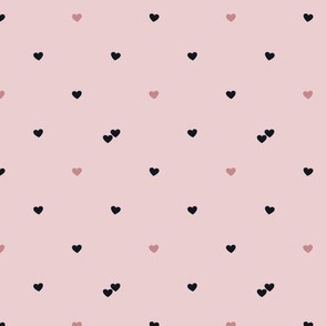 Tiny Hearts in Blush Pink