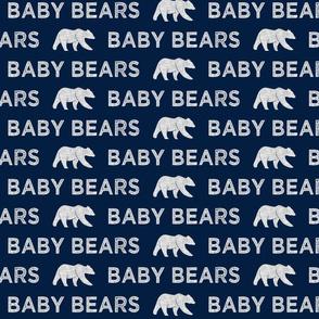 baby bears || navy