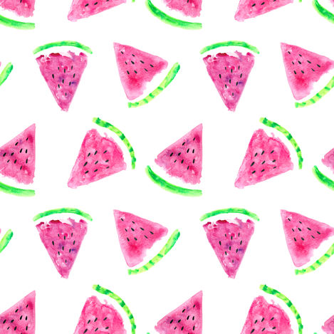 watermelon slices (small scale) fabric by littlearrowdesign on Spoonflower - custom fabric