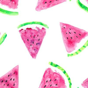 watermelon slices || fruit fabric