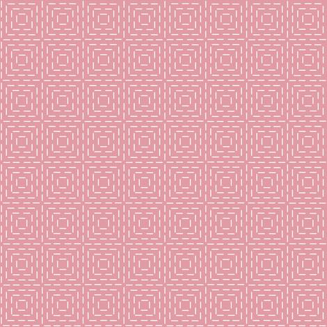 faux sashiko squares on hyacinth pink fabric by weavingmajor on Spoonflower - custom fabric