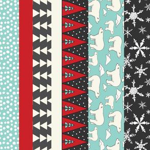 Polar Bear Strips for Stockings