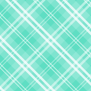 Mc Tiffany Aqua Blue Tartan Check