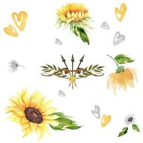 Sunflower Fabric Wallpaper Gift Wrap