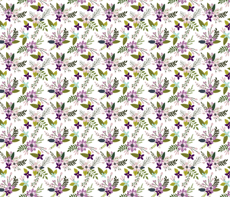 laguna sprigs and blooms fabric by ivieclothco on Spoonflower - custom fabric