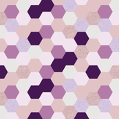 mermaid hexagons // purple