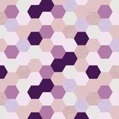mermaid hexagons // purple