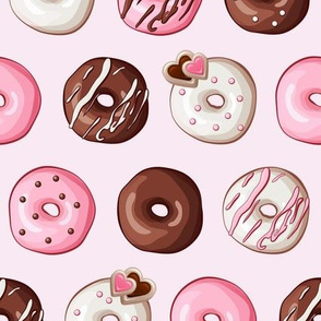 Valentine Donut Sweets Pink