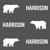 harrison bear customized boys fabric