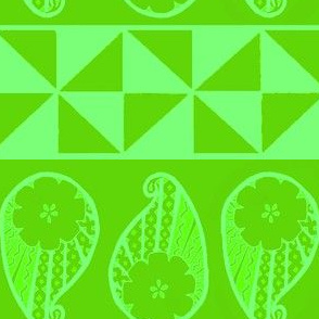 Green Paisley Burst