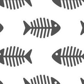 Large Dark Grey Fishes