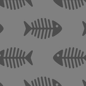 Large Grey Fishes on Grey