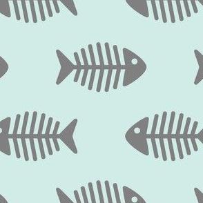 Large Grey Fishes on Aqua