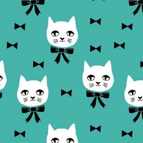 fancy cat // turquoise bow tie cat cute cat faces best cat design