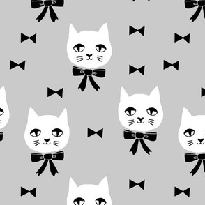fancy cat // cats grey cat head fabric cute cats design best cats fabric