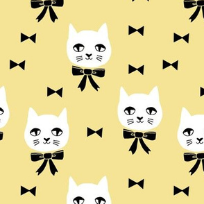 fancy cat // pastel yellow cat design cute nursery baby cats