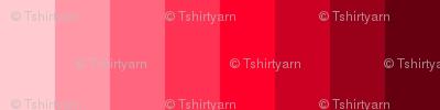 """T-Shirt Yarn 1/2"""" Strips - Spoonflower V2.1 Color Guide - Column 19"""