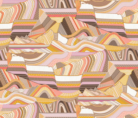 Stitched Mountains fabric by dearchickie on Spoonflower - custom fabric