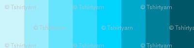 """T-Shirt Yarn 1/2"""" Strips - Spoonflower V2.1 Color Guide - Column 10"""
