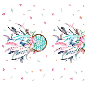KONA COTTON 2 to 1 Yard - Pink & Aqua Dream Catcher