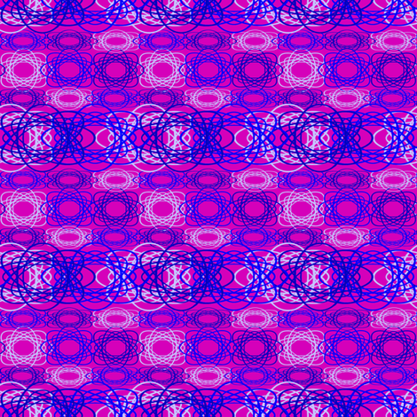 Blue Spiral on Purple fabric by necie_marie_designs on Spoonflower - custom fabric