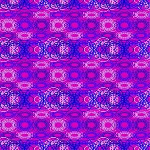 Blue Spiral on Purple