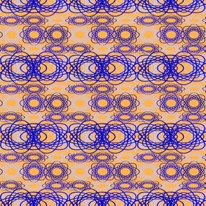 Blue Spiral on Gold