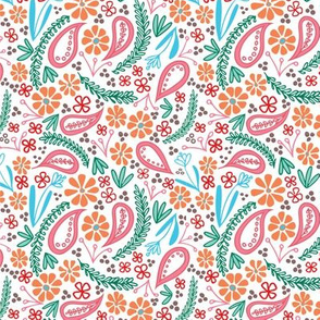 Spring Paisley Floral