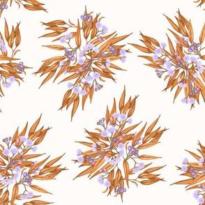 Gumnuts Ditsy, Rust Purple