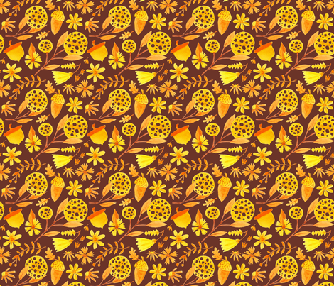 Golden Madness 02 fabric by the_unfinished_sketchbook on Spoonflower - custom fabric