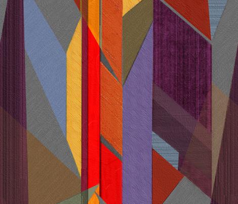 Horizons-purple red rust fabric by wren_leyland on Spoonflower - custom fabric