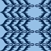 T. Towel Zigzag Stribes/blue