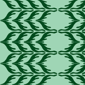 T. Towel Zigzag Stribes/green-ch