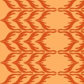 T. Towel Zigzag Stribes/orange