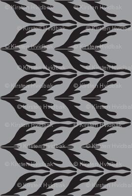 T. Towel Zigzag Stribes/grey