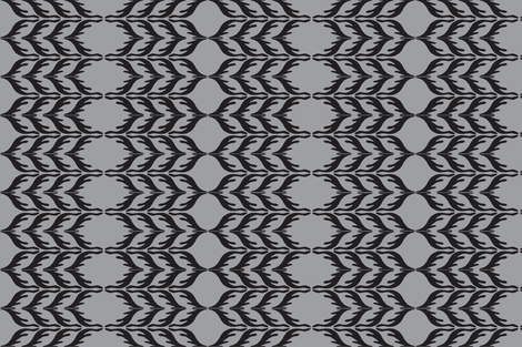 T. Towel Zigzag Stribes/grey fabric by mutterfit on Spoonflower - custom fabric