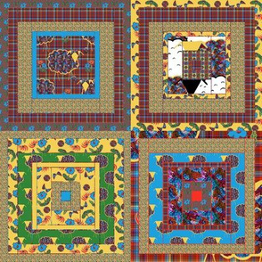 Yarn on the Hoof Cheater Quilt