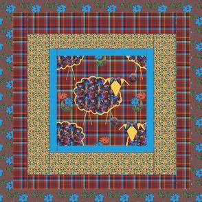 Yarn on the Hoof Quilt Block 1