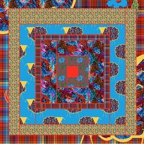 Yarn on the Hoof  Quilt Block 3