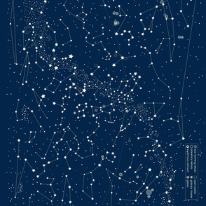 Star Map -dark bue