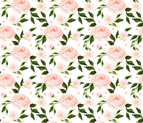 English Pink Garden fabric by shopcabin on Spoonflower - custom fabric