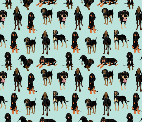 Black and Tan Coonhounds fabric by vieiragirl on Spoonflower - custom fabric