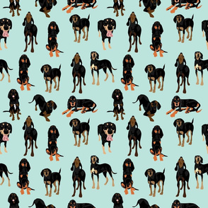 Black and Tan Coonhounds