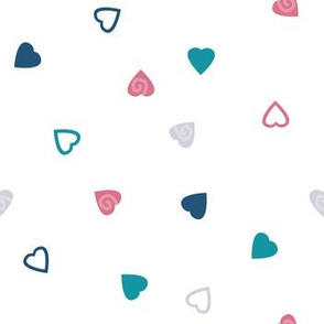 Doodle Hearts with Pink