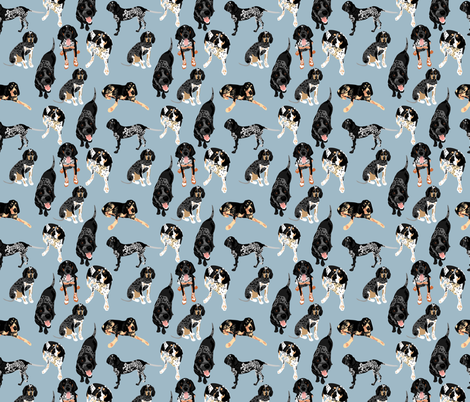 Bluetick coonhounds fabric by vieiragirl on Spoonflower - custom fabric